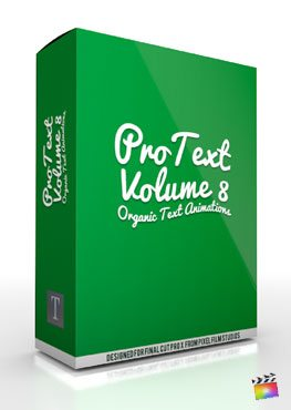 Final Cut Pro X Plugin ProText Volume 8 from Pixel Film Studios