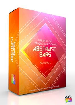 Final Cut Pro X Plugin Production Package Theme Abstract Bars from Pixel Film Studios