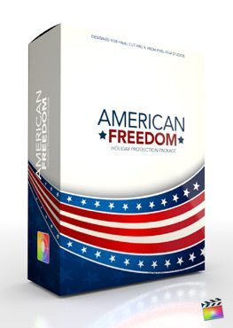 Final Cut Pro X Plugin Production Package American Freedom from Pixel Film Studios