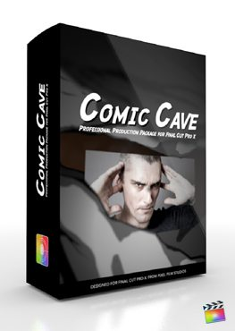 Final Cut Pro X Plugin Production Package Panel Comic Cave from Pixel Film Studios