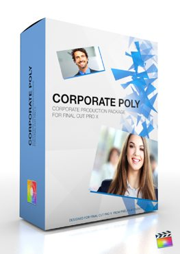 Final Cut Pro X Plugin Production Package Theme Corporate Poly from Pixel Film Studios