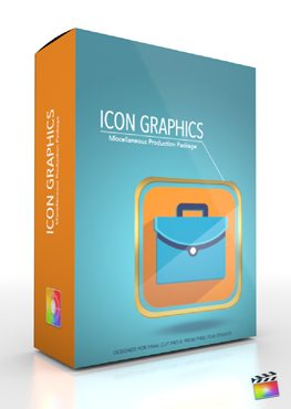 Final Cut Pro X Plugin Production Package Icon Graphics from Pixel Film Studios