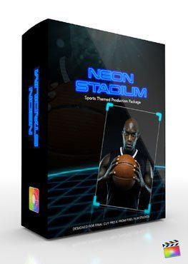 Final Cut Pro X Plugin Production Package Theme Neon Stadium from Pixel Film Studios