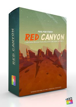 Final Cut Pro X Plugin Production Package Theme Red Canyon from Pixel Film Studios
