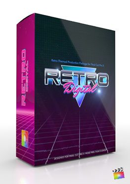 Final Cut Pro X Plugin Production Package Theme Retro Digital from Pixel Film Studios