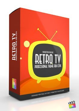Final Cut Pro X Plugin Production Package Theme Retro TV from Pixel Film Studios