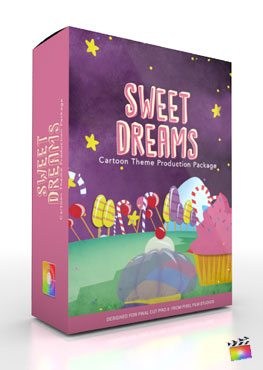 Final Cut Pro X Plugin Production Package Theme Sweet Dreams from Pixel Film Studios