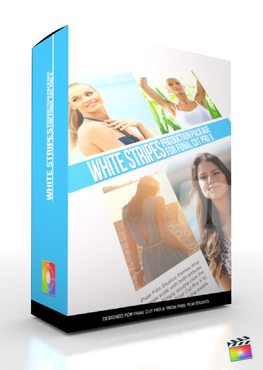Final Cut Pro X Plugin Production Package White Stripes from Pixel Film Studios