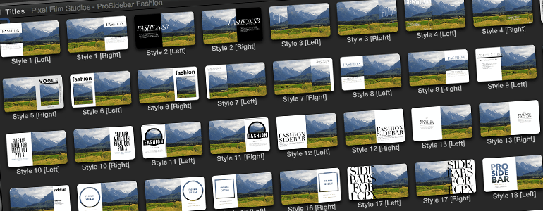 Professional - Sidebar Titles - for Final Cut Pro X