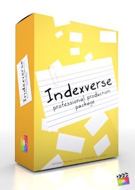Final Cut Pro X Plugin Production Package Indexverse from Pixel Film Studios
