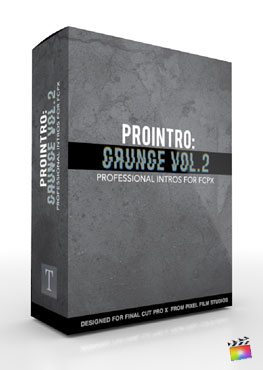 Final Cut Pro X Plugin ProIntro Grunge Volume 2 from Pixel Film Studios