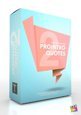 Final Cut Pro X Plugin ProIntro Quotes Volume 2 from Pixel Film Studiios