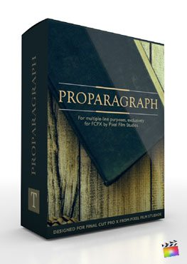 Final Cut Pro X Plugin ProParagraph from Pixel Film Studios