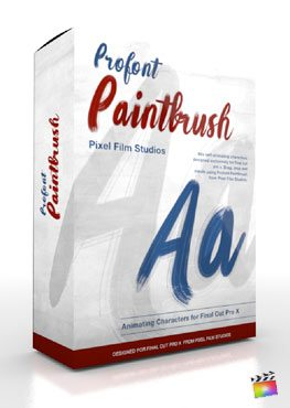 Final Cut Pro X Plugin ProFont Paintbrush from Pixel Film Studios