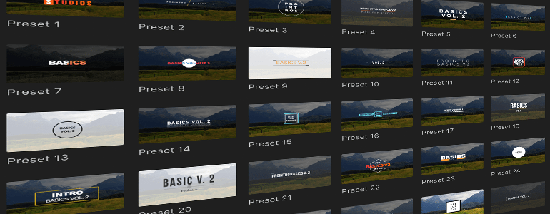 Final Cut Pro X Plugin ProIntro Basics Volume 2 from Pixel Film Studios