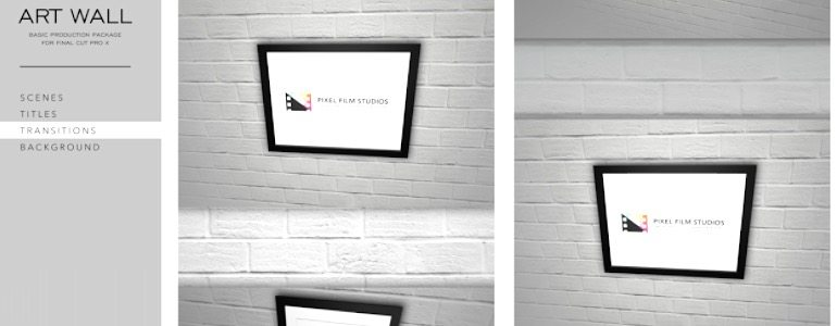 Final Cut Pro X Theme Art Wall from Pixel Film Studios