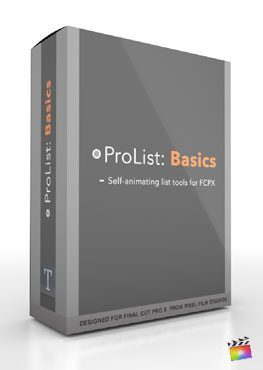 Final Cut Pro X Plugin ProList Basics from Pixel Film Studios