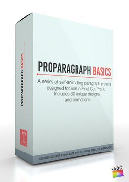 Final Cut Pro X Plugin ProParagraph Basics from Pixel Film Studios