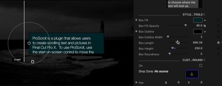 Final Cut Pro X plugin ProScroll from Pixel Film Studios