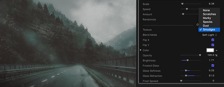 Wet Lens Filter Distortion Effects in Final Cut Pro X