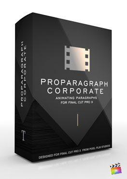 Final Cut Pro X Plugin ProParagraph Corporate from Pixel Film Studios