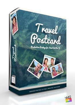 Final Cut Pro X Production Package Travel Postcard from Pixel Film Studios