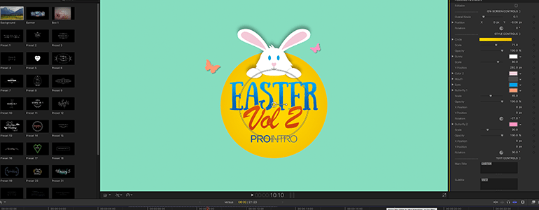 Final Cut Pro X Plugin ProIntro Easter Volume 2 from Pixel Film Studios