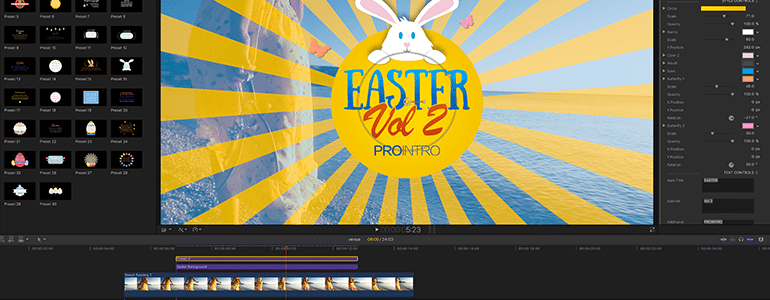 Final Cut Pro X Plugin ProParagraph: Easter from Pixel Film Studios