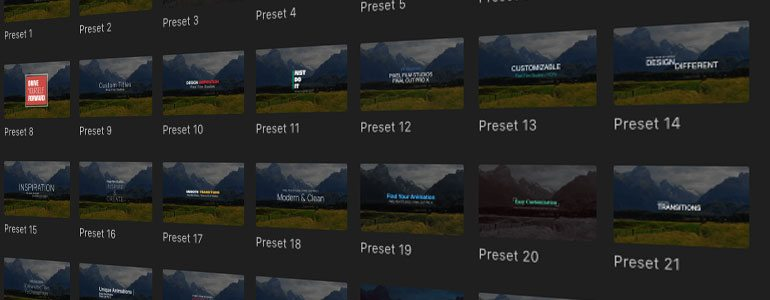 Final Cut Pro X plugin ProIntro Web Volume 7 from Pixel Film Studios