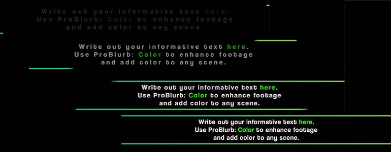 ProBlurb: Color - Informative Captions for FCPX- Pixel Film Studios