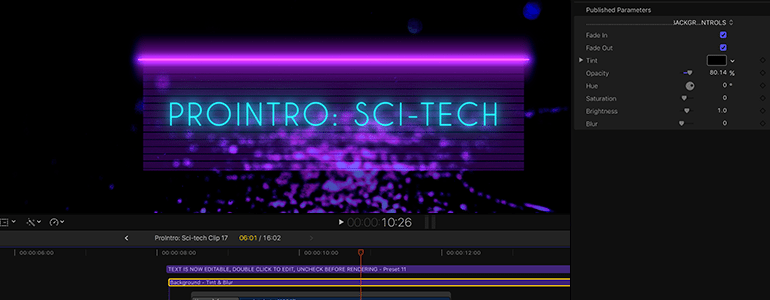 Animated titles for FCPX