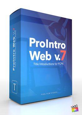 Final Cut Pro X Plugin ProIntro Web Volume 7 from Pixel Film Studios