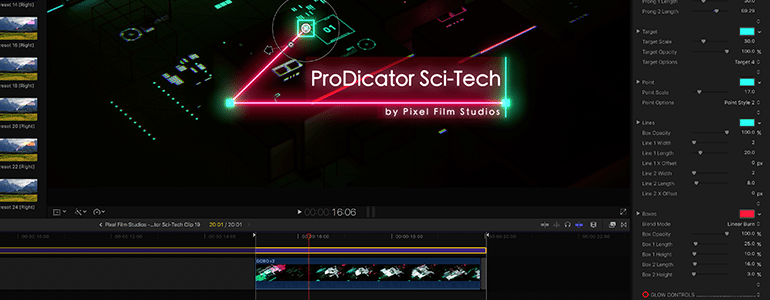 Trackable 3D Line Indicators for FCPX