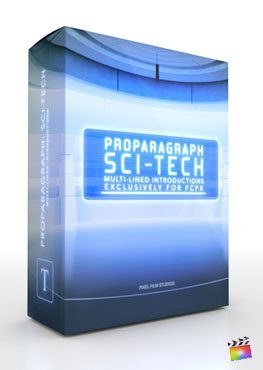 Final Cut Pro X Plugin ProParagraph SciFi Tech from Pixel Film Studios
