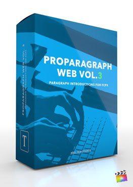 Final Cut Pro X Plugin ProParagraph Web Volume 3 from Pixel Film Studios