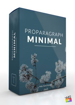 Final Cut Pro X plugin ProParagraph Minimal from Pixel Film Studios