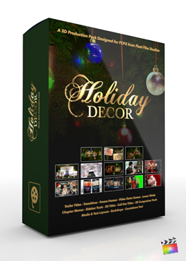 Final Cut Pro X Plugin Holiday Decor Production Package from Pixel Film Studios