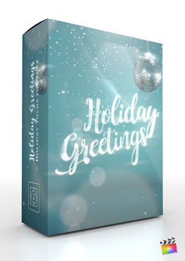Final Cut Pro X Theme Holiday Greetings from Pixel Film Studios