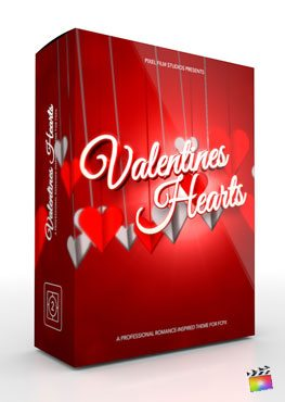 Final Cut Pro X Theme Valentines Hearts from Pixel Film Studios