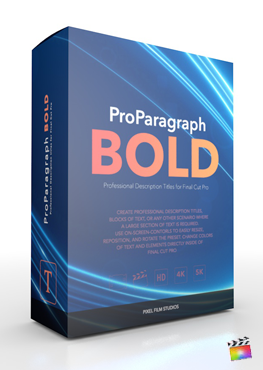 Final Cut Pro X Plugin ProParagraph Bold