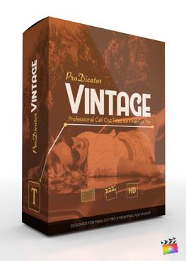 Final Cut Pro X Plugin ProDicator Vintage from Pixel Film Studios
