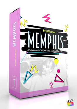 Final Cut Pro X Plugin ProDicator Memphis from Pixel Film Studios