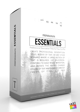 Final Cut Pro X Plugin ProParagraph Essentials from Pixel Film Studios