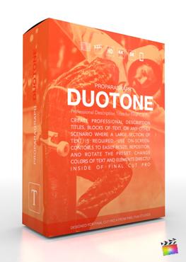 Final Cut Pro X Plugin ProParagraph Duotone from Pixel Film Studios