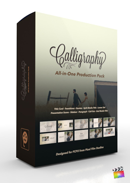 Final Cut Pro X Plugin's Calligraphy Production Package from Pixel Film Studios