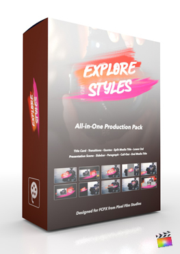 Final Cut Pro X Plugin Explore Styles Production Package from Pixel Film Studios
