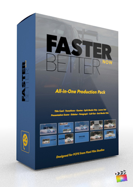 Final Cut Pro X Plugin Faster Better Now Production Package from Pixel Film Studios