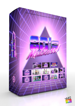 Final Cut Pro X Plugin 80's Madness 3D Production Package from Pixel Film Studios