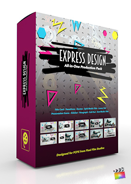 Final Cut Pro X Plugin's Express Design Production Package from Pixel Film Studios