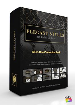 Final Cut Pro X Plugin's Elegant Styles Production Package from Pixel Film Studios